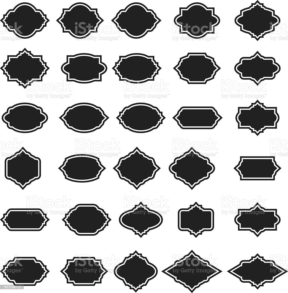 Vector frame set vector art illustration