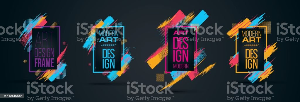 Vector frame vector art illustration