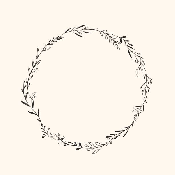 vector frame. - twig stock illustrations, clip art, cartoons, & icons