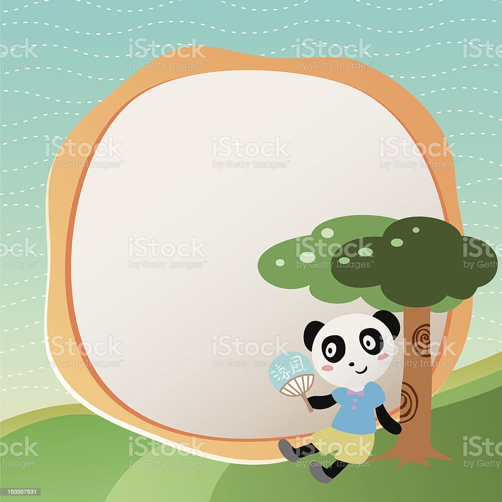 vector frame with panda royalty-free stock vector art
