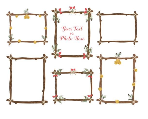 vector frames set. - gałązka stock illustrations