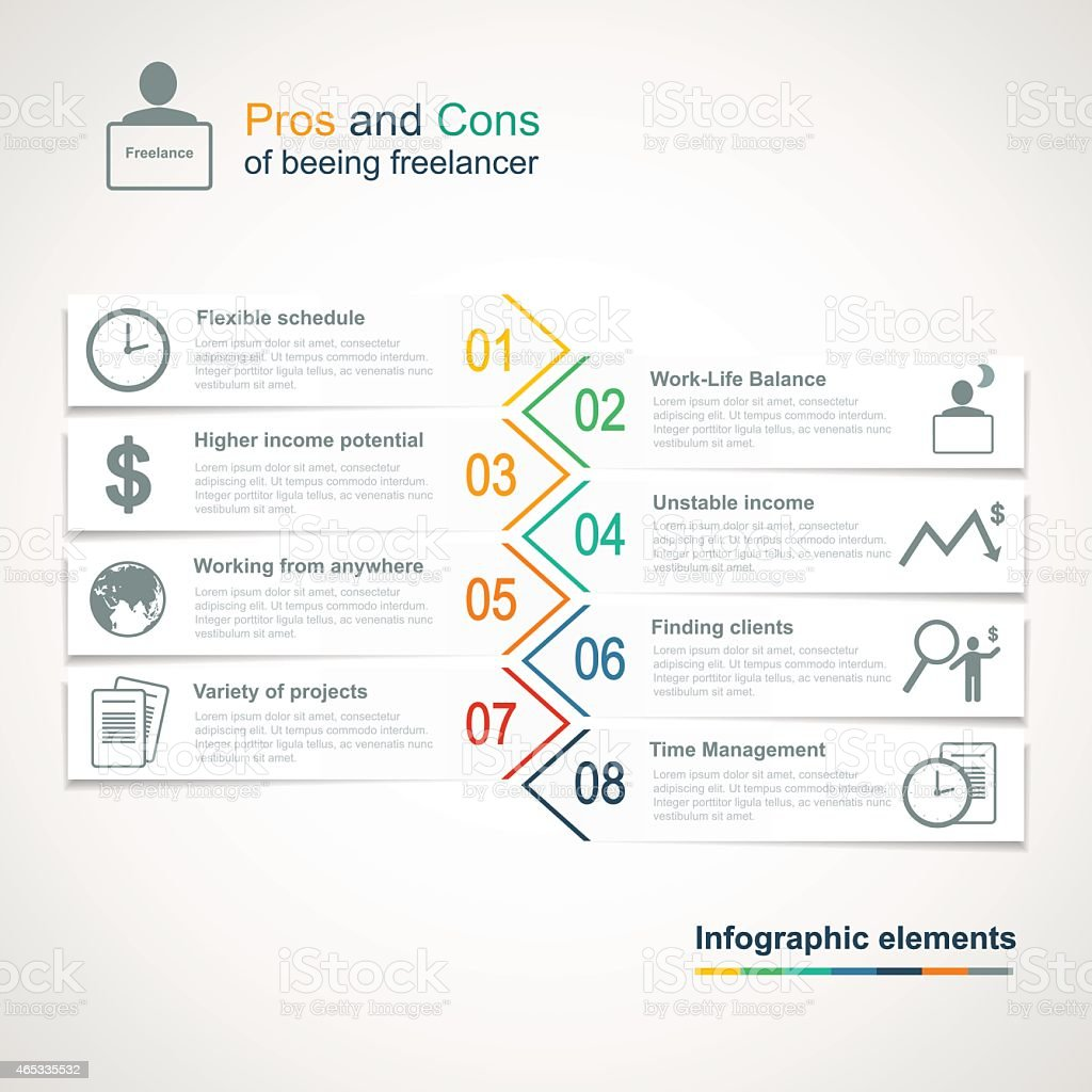 Vector freelance infographics vector art illustration