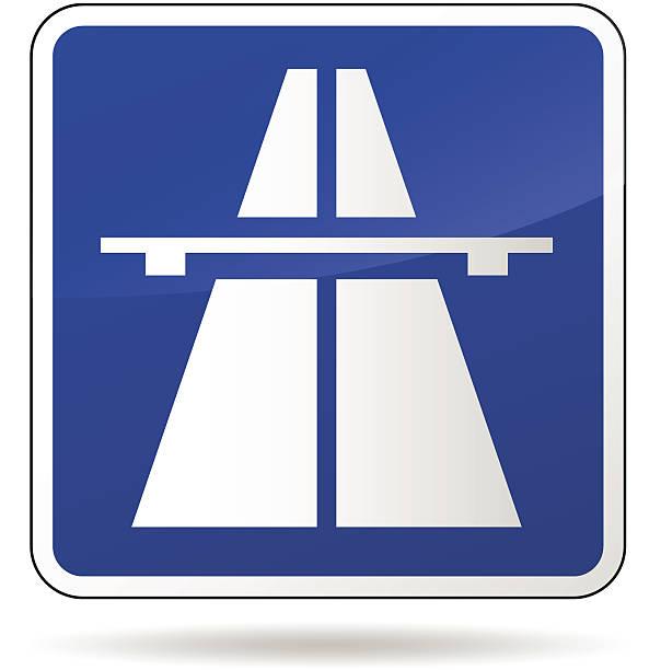 Vector autopista señal azul - ilustración de arte vectorial