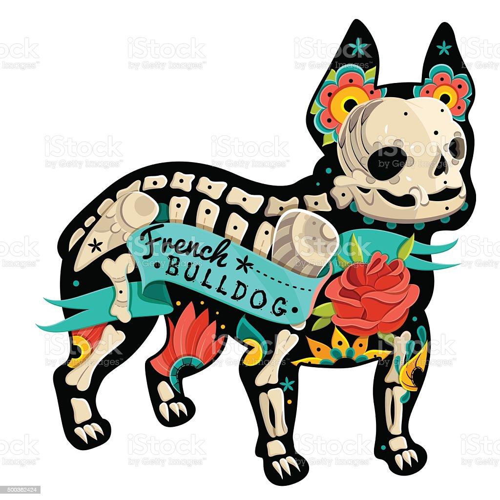 Vektorfranzösische Bulldogge Stock Vektor Art Und Mehr Bilder Von