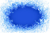 Blue frosted window.