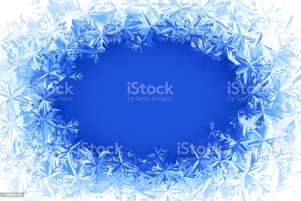 Vector frost frame vector art illustration