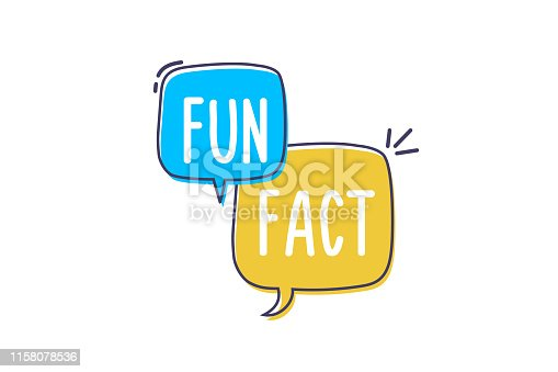 istock Vector fun and cheerful doodle speech bubble with the words Fun Fact. Vector concept illustration 1158078536