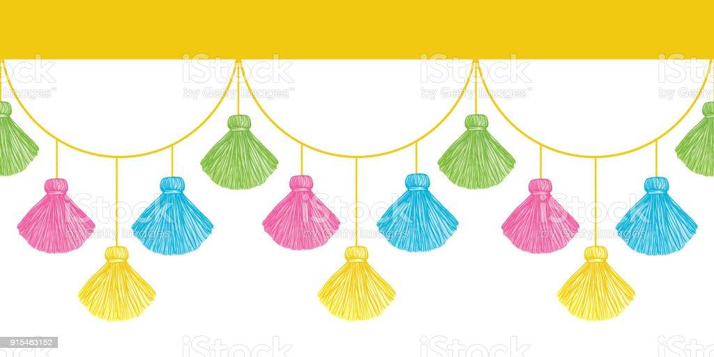Ilustración de Borlas Decorativas Colorido Divertido Vector ...