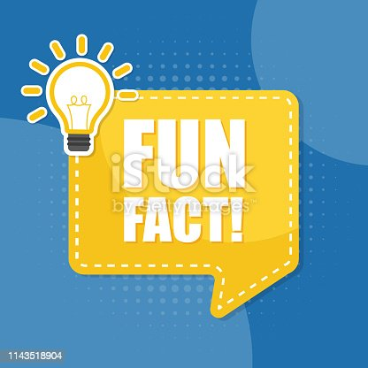 Vector fun fact speech bubble. Ð¡oncept illustration