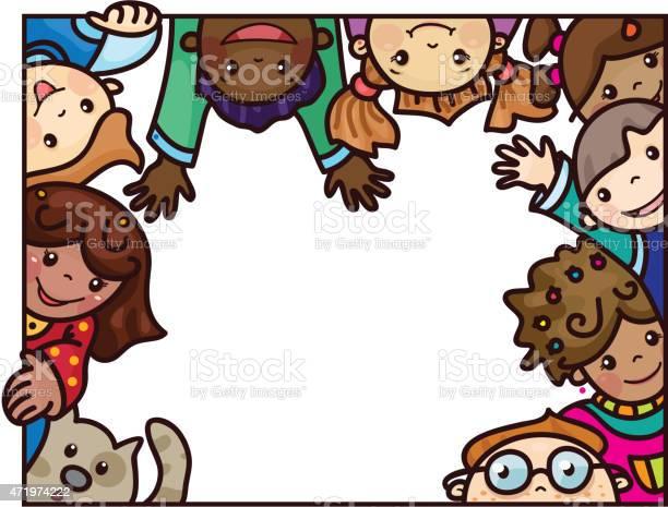 Vector fun multiethnic kids cartoons frame vector id471974222?b=1&k=6&m=471974222&s=612x612&h= gsu8fvidclc9nzyuygu7rfdc517ihjsggmy1a 0gmk=
