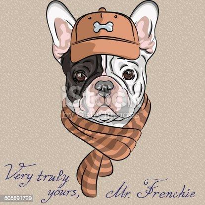 Vecteur de chien dr le en dessin anim bouledogue fran ais - Bulldog dessin anime ...