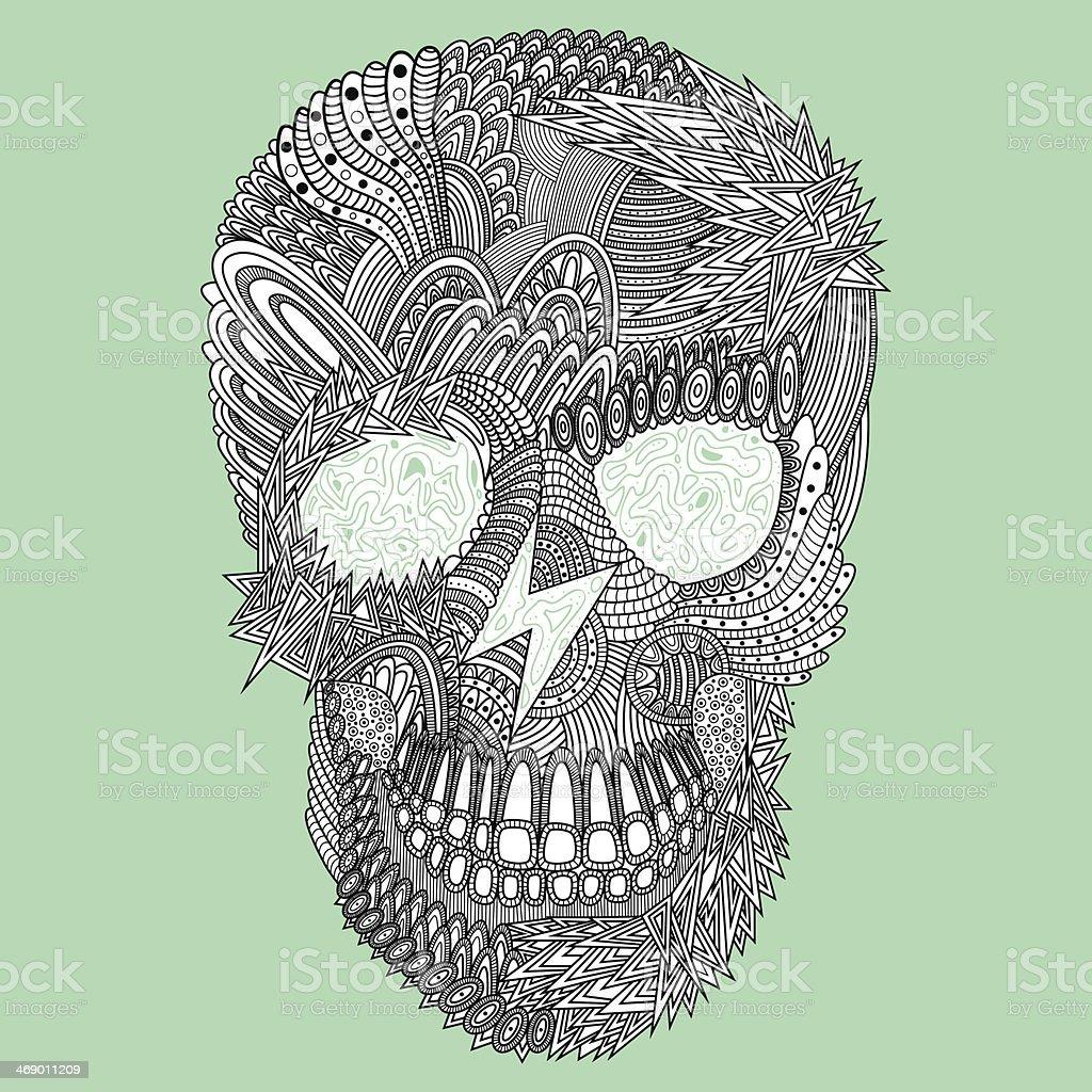 vector funny skull royalty-free stock vector art