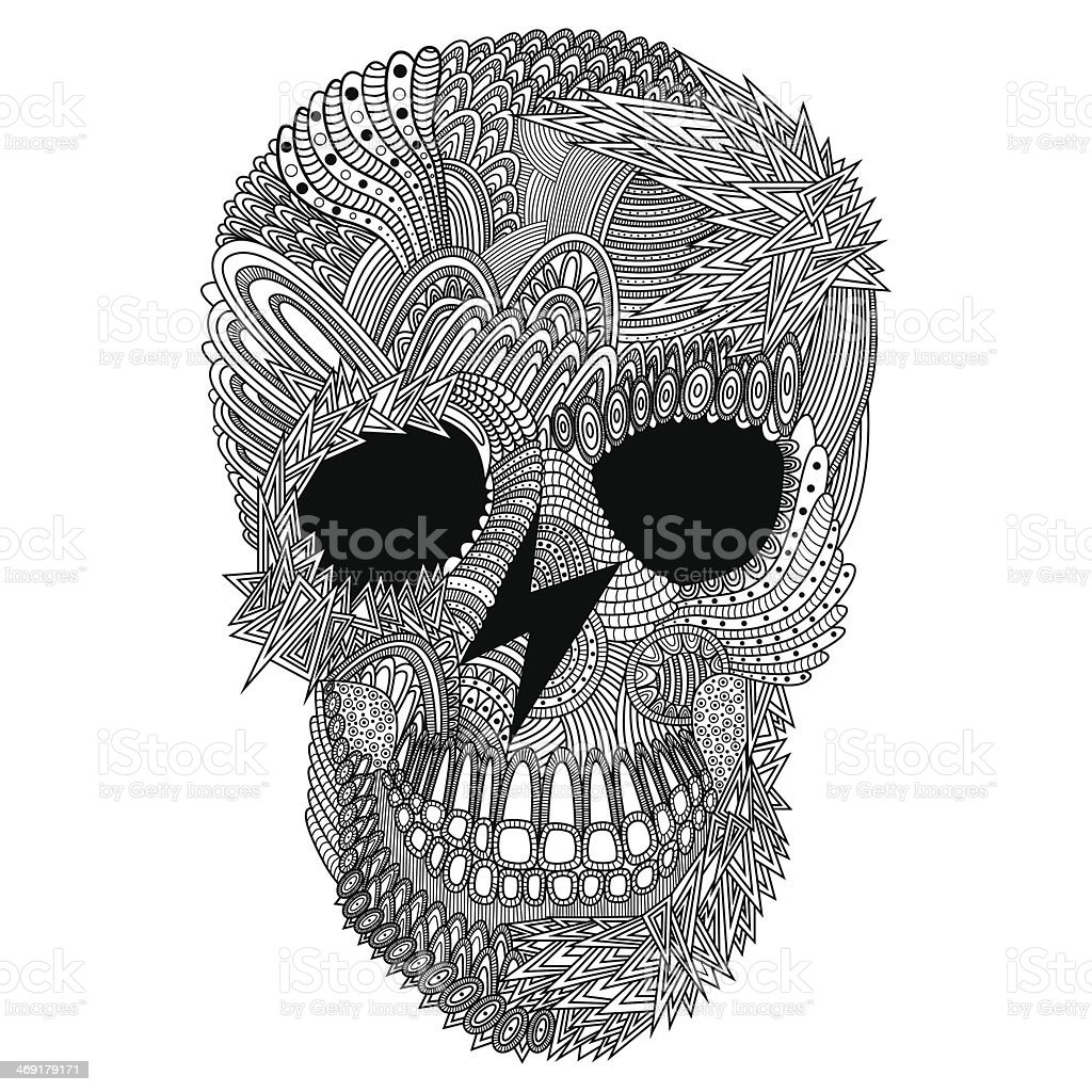 vector funny skull royalty-free vector funny skull stock vector art & more images of abstract