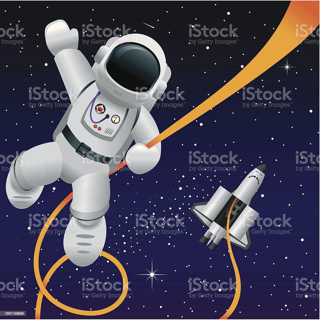 Vettore divertente spazio - illustrazione arte vettoriale