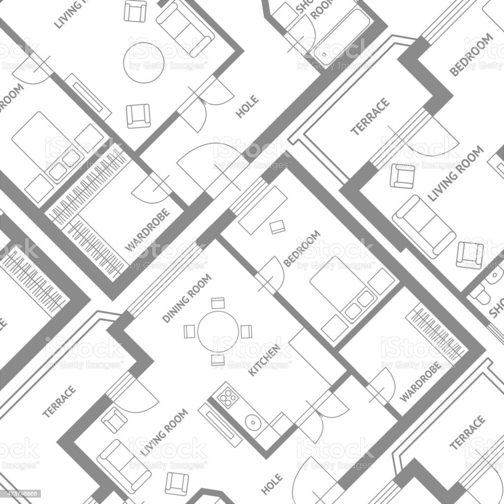 Vecteur De Meubles Design Arri Replan Un Plan Darchitecte  # Plan Des Meubles