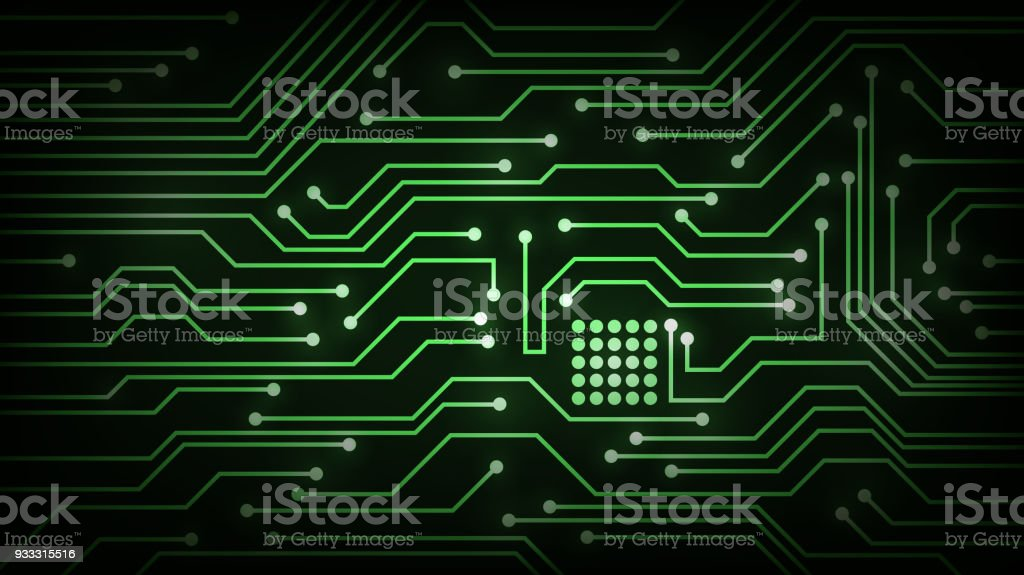 Vector Futuristic Wallpaper With The Motherboard Royalty Free