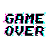 Vector game over pixel glitch