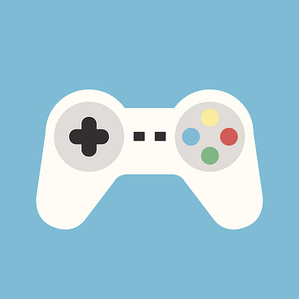 Vector Gamepad Icon Vector Gamepad Icon game controller stock illustrations