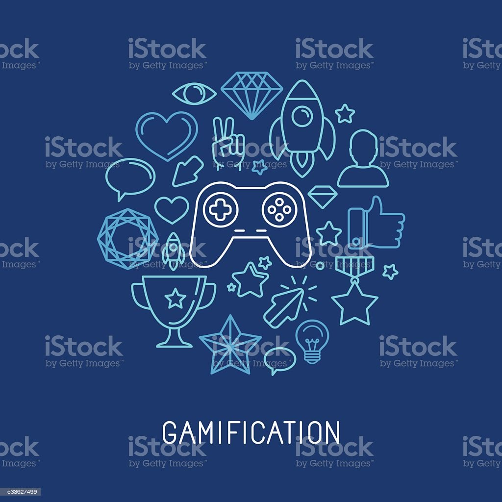 Vector gamification concepts vector art illustration