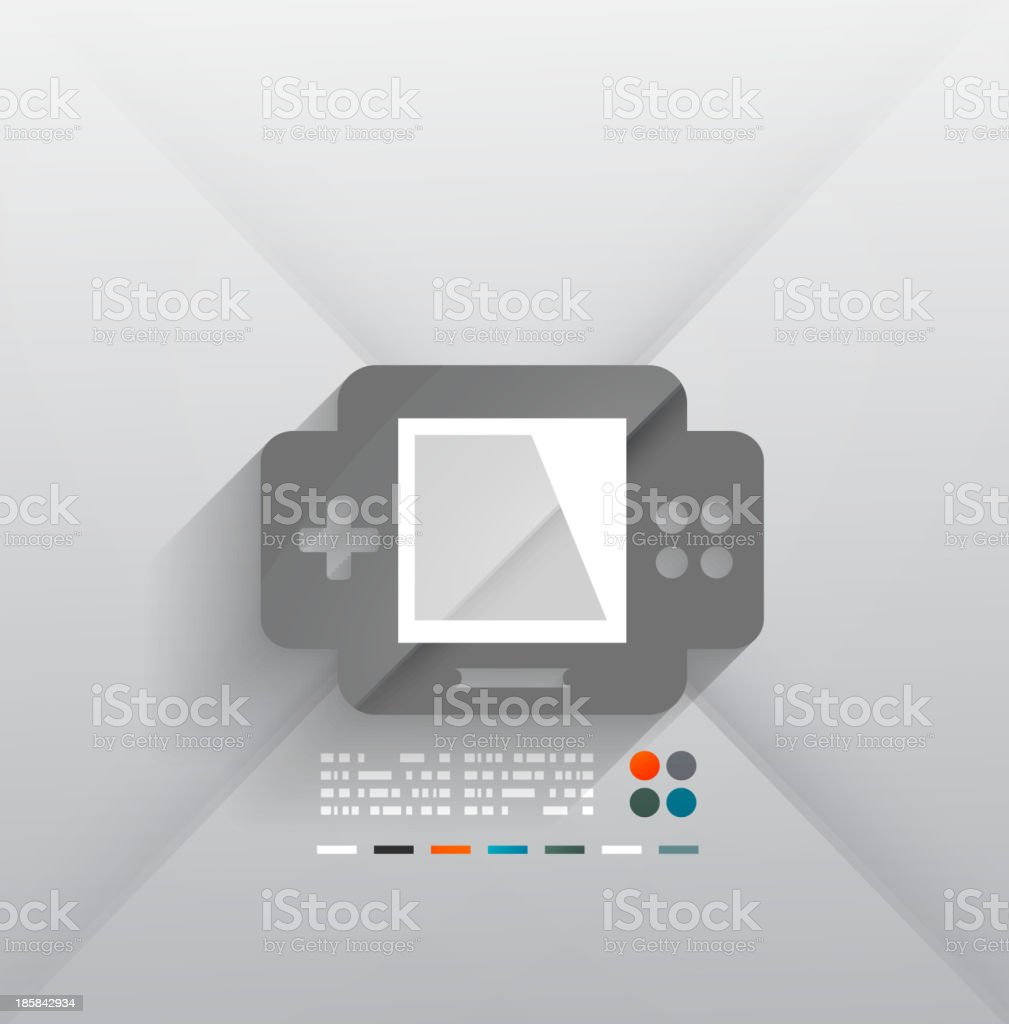 Vector gaming console 3d paper design vector art illustration
