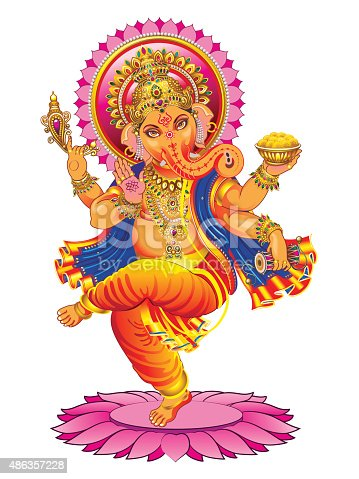 istock Vector Ganesha on a white background 486357228