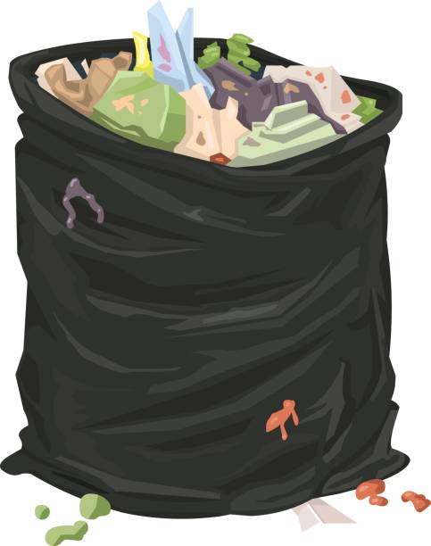 Vector Garbage Bag Icon. vector art illustration