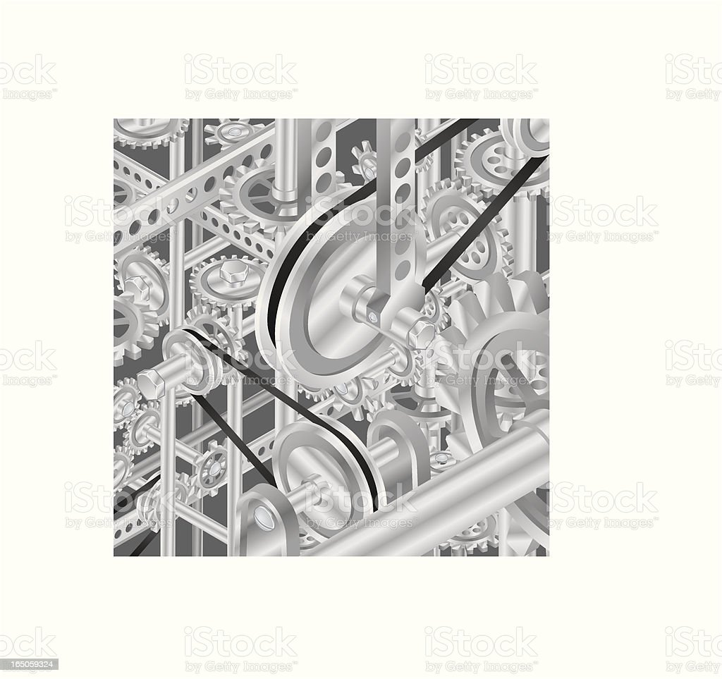 Vector Gear Machine royalty-free stock vector art