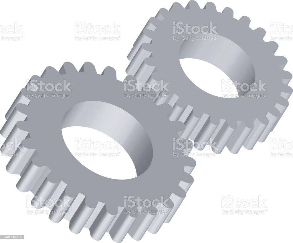 Vector gear royalty-free stock vector art