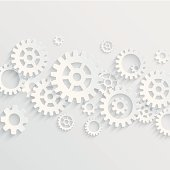 Vector gears and cogs background. Concept background for teamwork or business