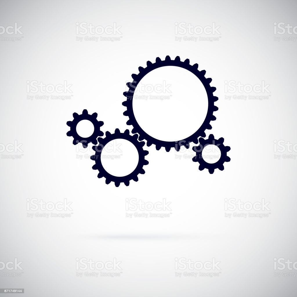 Vector Gears vector art illustration