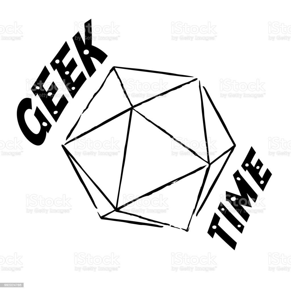 Vector Geek time illustration vector art illustration