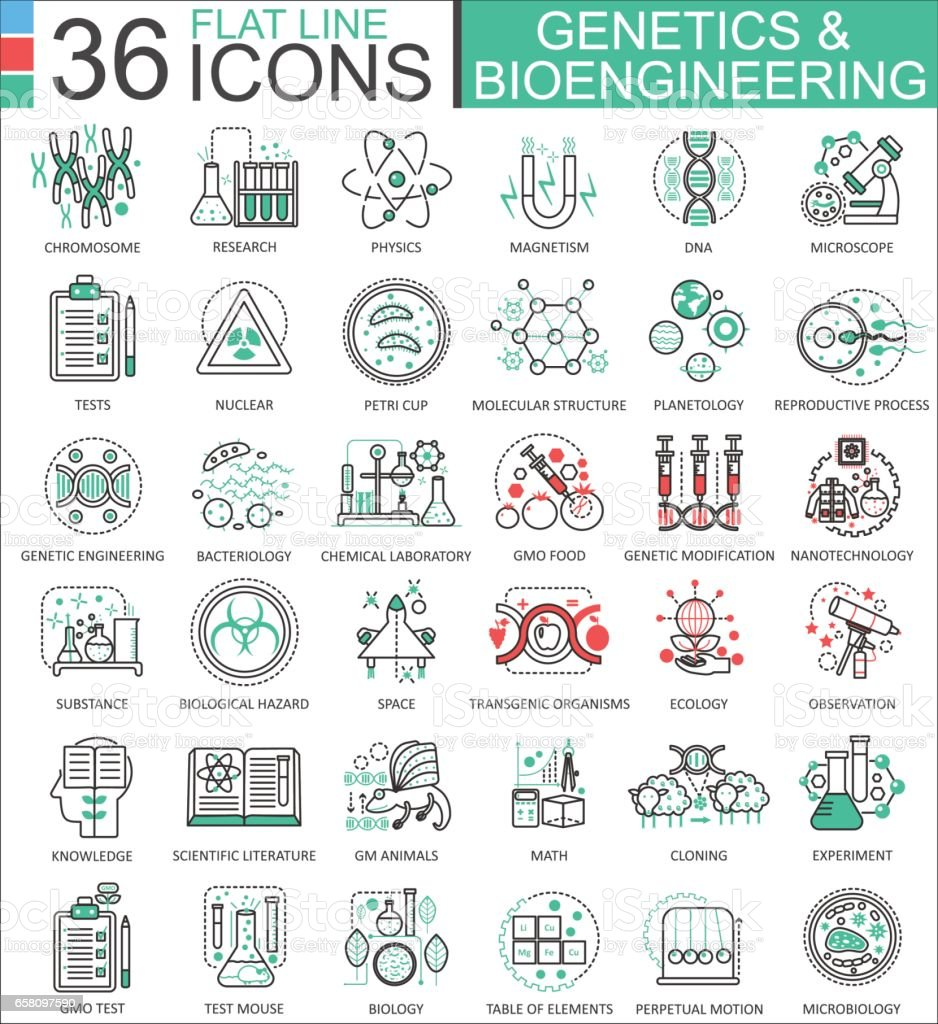 Vector Genetics and biochemistry flat line outline icons for apps and web design. Genetics chemical high technology icons royalty-free vector genetics and biochemistry flat line outline icons for apps and web design genetics chemical high technology icons stock vector art & more images of abstract
