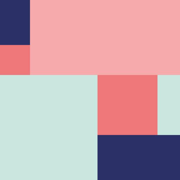 Geometrischer Hintergrund im Materialdesign – Vektorgrafik