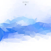 Vector geometric blue background