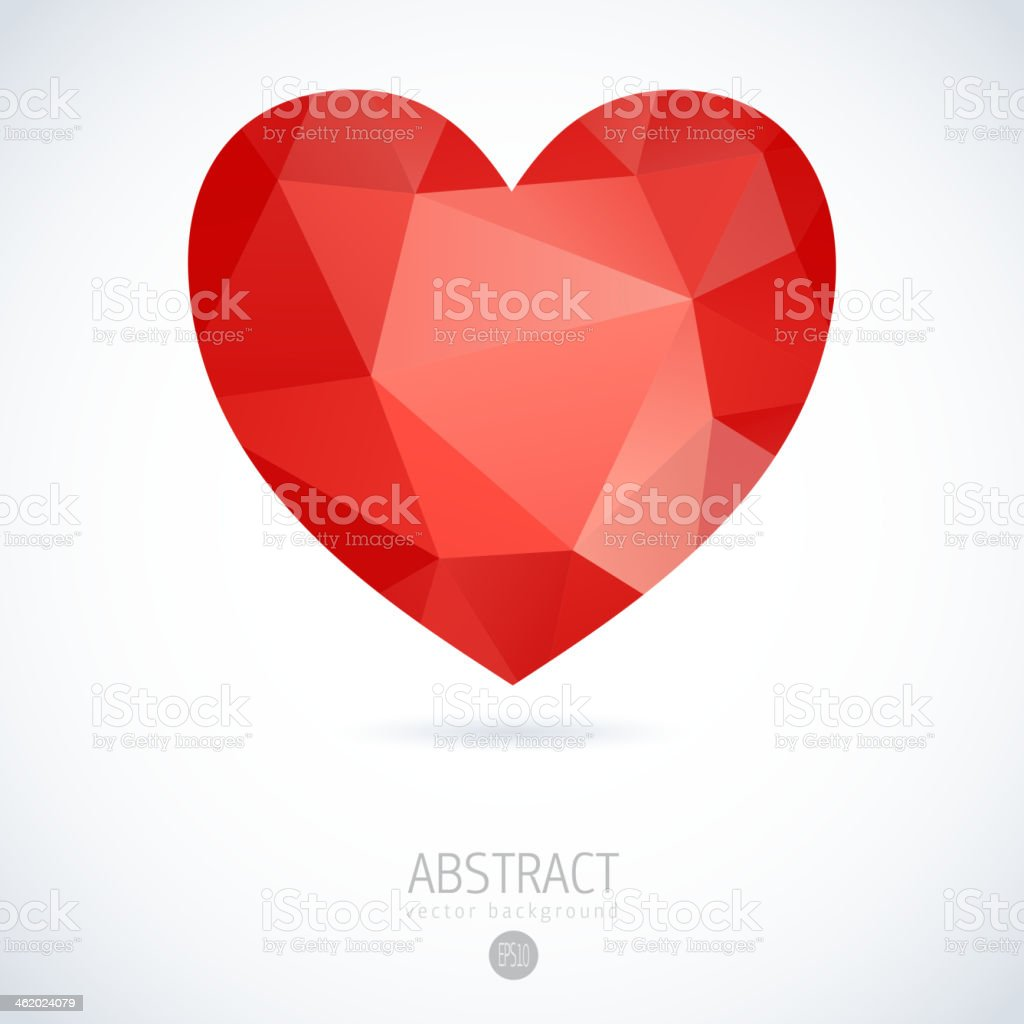 Vector Geometric Mosaic Heart royalty-free stock vector art