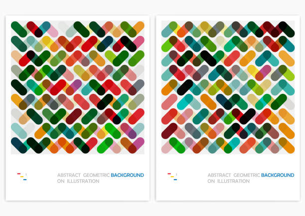 vector geometric pattern backgrounds - repetition stock illustrations