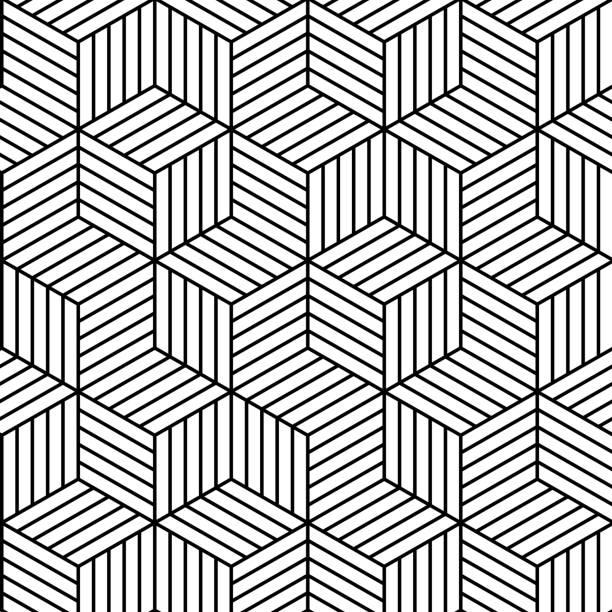 stockillustraties, clipart, cartoons en iconen met vector geometric seamless pattern background. - vierkant compositie