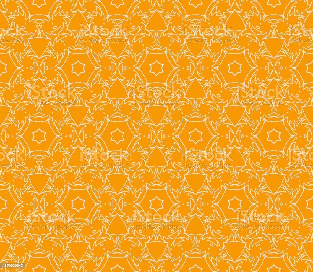 vector geometric seamless pattern floral style orange color for on vector id859329040