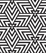 Vector geometric seamless pattern. Modern triangle texture, repe