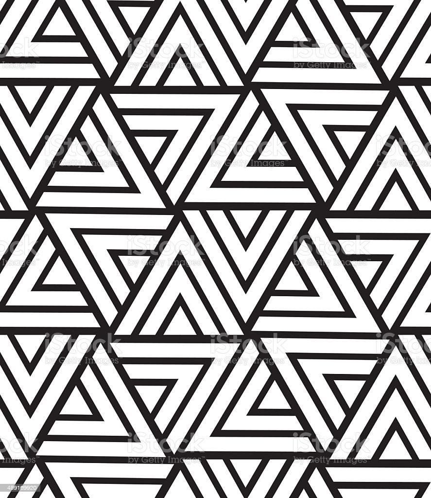 Vector geometric seamless pattern modern triangle texture for Modern carpet pattern blue seamless