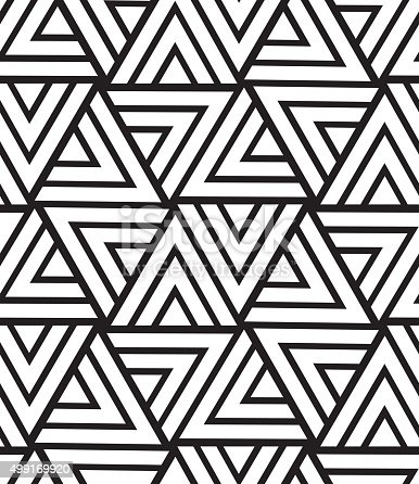 Vector Geometric Seamless Pattern Modern Triangle Texture Repe Stock Vector Art & More Images of ...