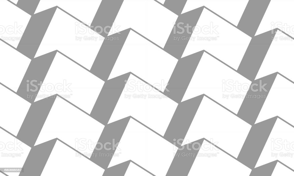 Vector geometric seamless pattern. Rows of uniform 3d cubes. Axonometric view. royalty-free vector geometric seamless pattern rows of uniform 3d cubes axonometric view stock vector art & more images of abstract