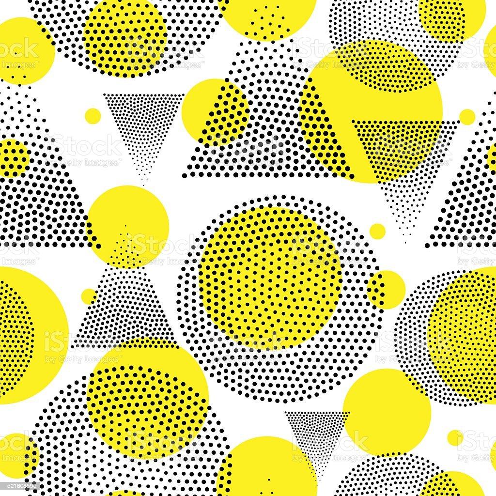 Vecteur géométrique motif sans couture. - Illustration vectorielle
