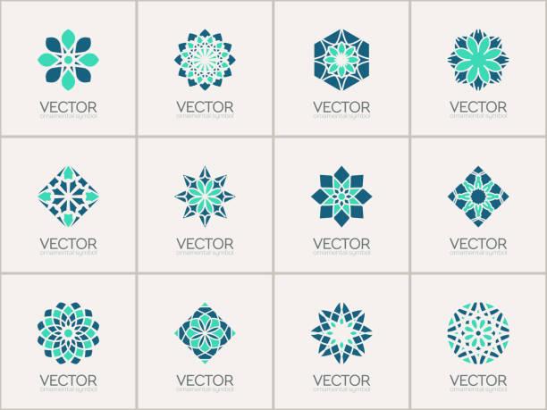 stockillustraties, clipart, cartoons en iconen met vector geometric symbols - oost