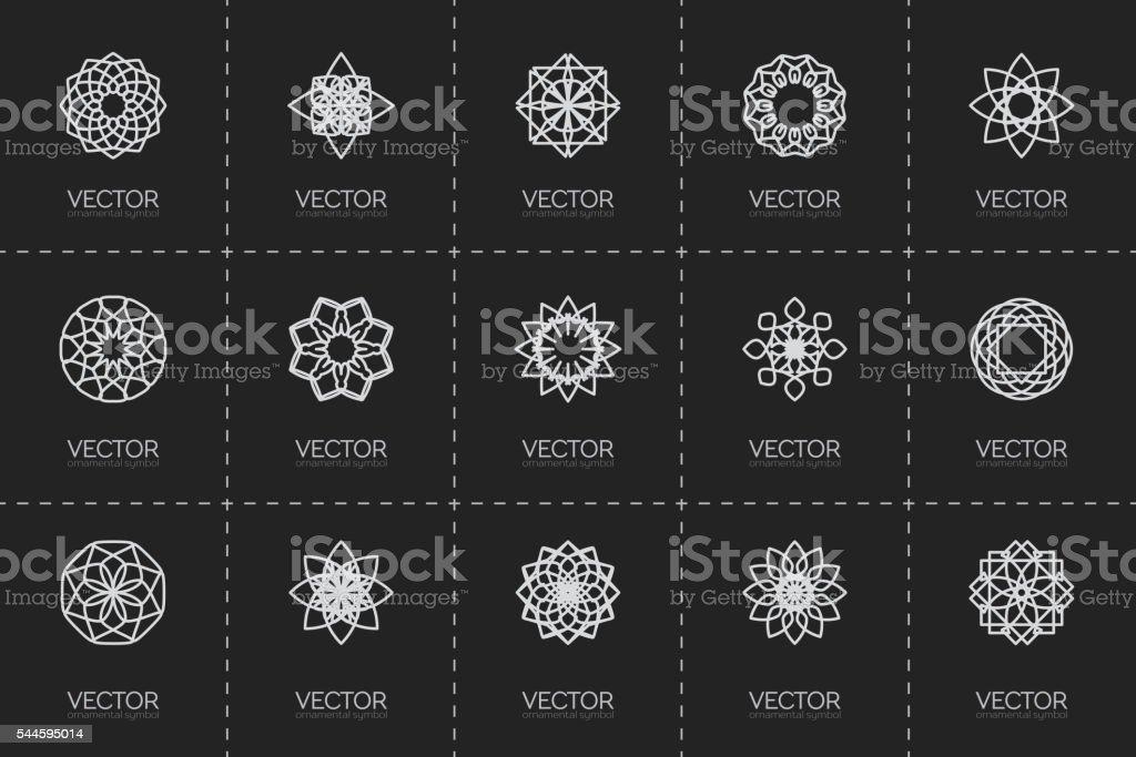 Vector geometric symbols vector art illustration