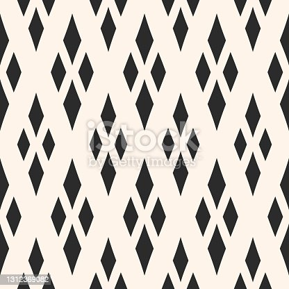 istock Vector geometric texture with rhombuses. Traditional motif, argyle pattern 1312369082
