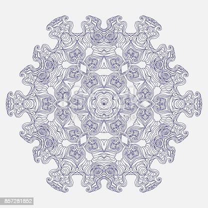 ᐈ Imagen De Vectores Geometricos Y Flores Alrededor De Mandala