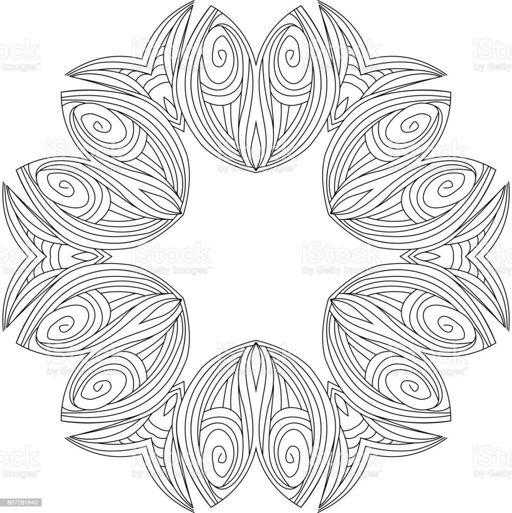 Vektor Geometrik Ve Cicek Mandala Yuvarlak Oryantal Desen Vektor