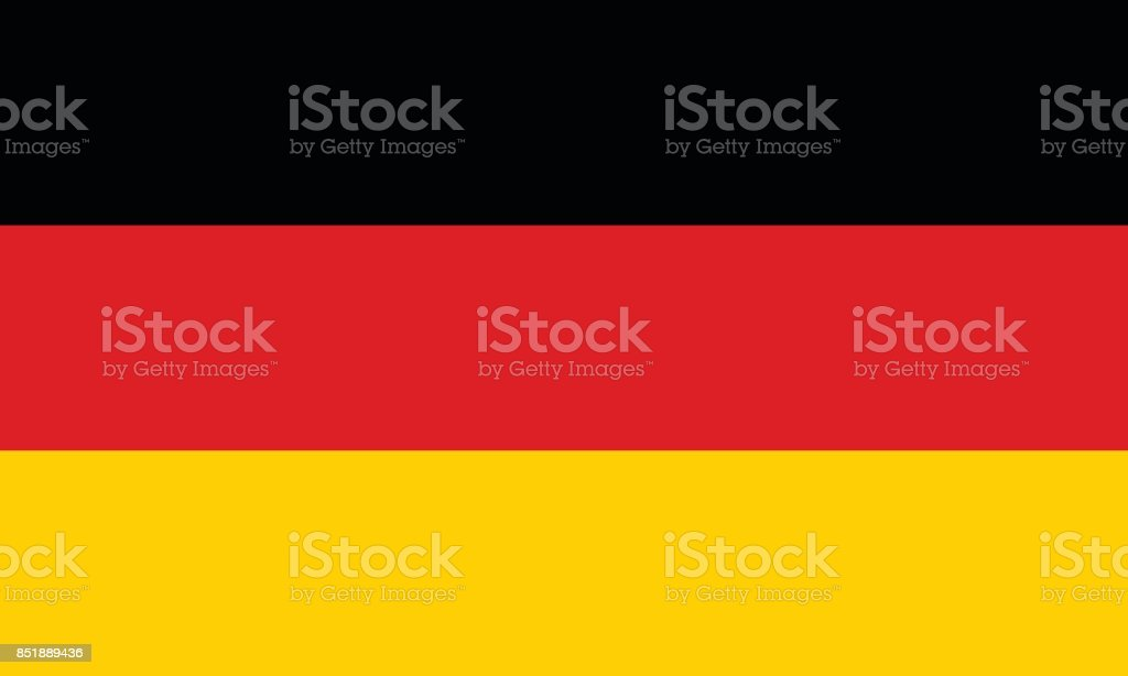Vector German Flag in Original Ratio and Colors vector art illustration