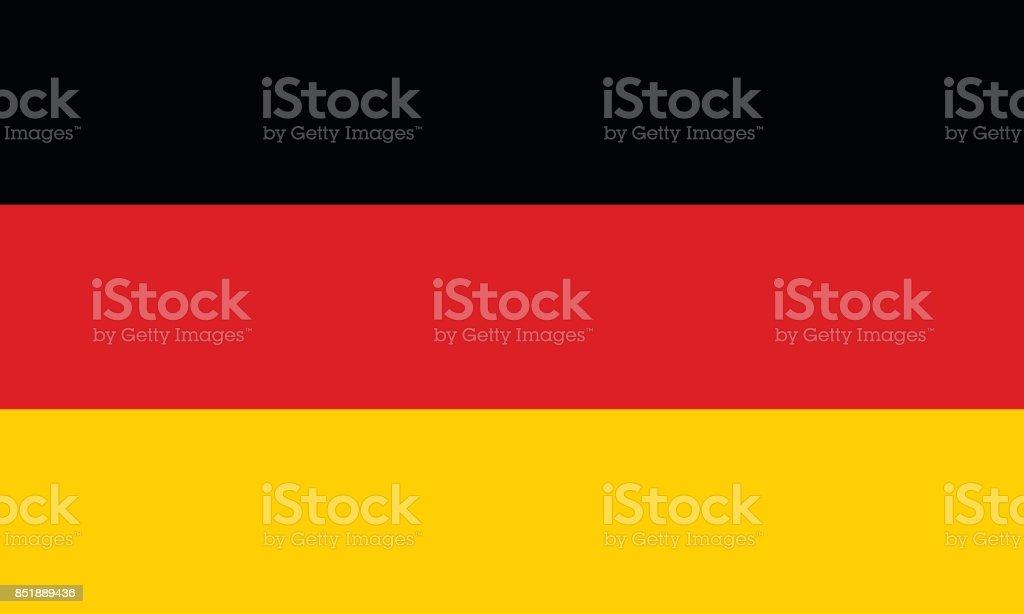 Vector bandera alemana en proporción y colores originales - ilustración de arte vectorial